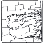 Animals coloring pages - Elephant 2