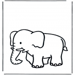 animals coloring pages - Elephant 3