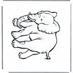 Animals coloring pages - Elephant 4