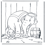 Animals coloring pages - Elephant 5