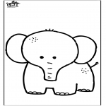Animals coloring pages - Elephant 7