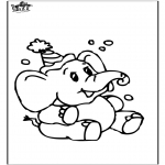 animals coloring pages - Elephant 8