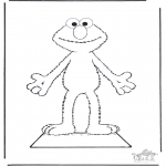 Crafts - Elmo paper doll