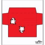 Christmas coloring pages - Envelop snowman