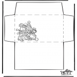 Christmas coloring pages - Envelop xmas 1