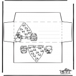 Christmas coloring pages - Envelop xmas 2