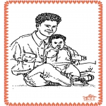 Theme coloring pages - Father's Day 2