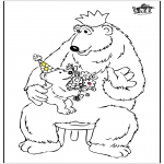 Theme coloring pages - Father's day bear