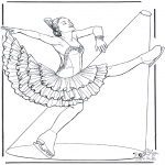 Winter coloring pages - Figure skating 1