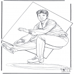 Winter coloring pages - Figure skating 2