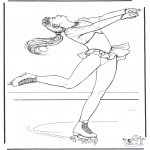 Winter coloring pages - Figure skating 3