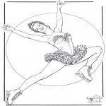 Winter coloring pages - Figure skating 4
