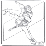 Winter coloring pages - Figure skating 6