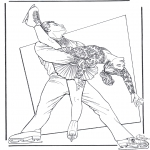 Winter coloring pages - Figure skating 8