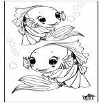 Animals coloring pages - Fish 3
