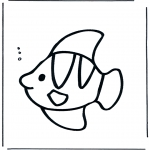 Animals coloring pages - Fish in the water