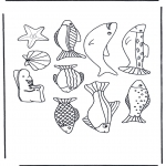 Animals coloring pages - Fishing pictures