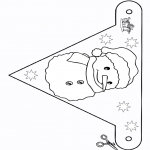 Crafts - Flag Snowman 2