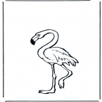 Animals coloring pages - Flamingo