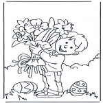 Theme coloring pages - Flowers with Eastern