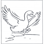 Animals coloring pages - Flying goose