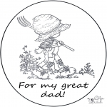 Theme coloring pages - For dear dad