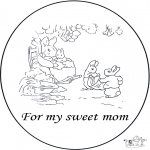 Theme coloring pages - For dear mum