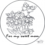 Theme coloring pages - For mum