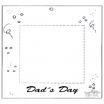 Theme coloring pages - Fotoframe for dad