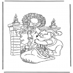 Christmas coloring pages - Free bible coloring pages winnie the pooh