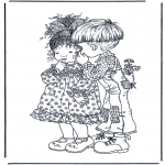 All sorts of - Free coloring pages boy and girl