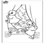 Free coloring pages easter chicken 2