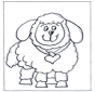 Free coloring pages little sheep