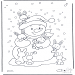 Winter coloring pages - Free coloring pages rabbit
