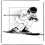 All sorts of - Free coloring pages skiing
