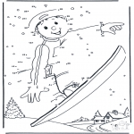 Winter coloring pages - Free coloring pages Snowboarding