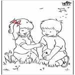 All sorts of - Free coloring pages spring 2