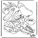 All sorts of - Free coloring pages vegatables