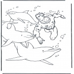Animals coloring pages - Free coloring pictures dolphins