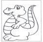 Free coloring sheets dinosauer