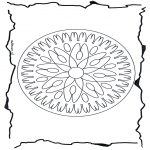 Mandala Coloring Pages - Geomandala 7