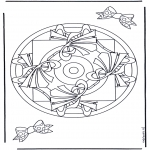 Mandala Coloring Pages - Geomandala 9