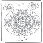 Mandala Coloring Pages - Geomandala flowers