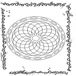 Mandala Coloring Pages - Geometric mandala 1