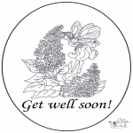 Theme coloring pages - Get well 1
