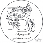 Theme coloring pages - Get well 3