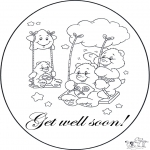 Theme coloring pages - Get well 4
