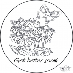 Theme coloring pages - Get well 5