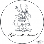 Theme coloring pages - Get well 6