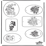 Theme coloring pages - Gift tag Mother's day